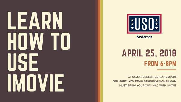 Learn How To Use iMovie • USO Guam